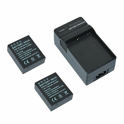 2x Replacement Battery BLH-1 + Battery Charger for Olympus EM1 MK 2 E-M1 Mark II