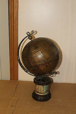 Vintage-Antique Wooden -Globe with 1634 maps