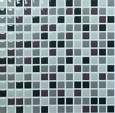 High Quality Stick On 3D Wall Tiles, 10'x10' Pack Of 4,Bathroom,Kitchen Home