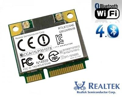 + Realtek RTL8723AE Windows®10 802.11b/g/n WLAN+Bluetooth 4.0 Mini PCI Express +