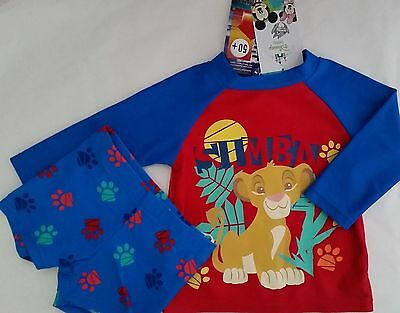 DISNEY LION KING SIMBA Licensed rash rashie swim top shirt + trunks NEW sz 00