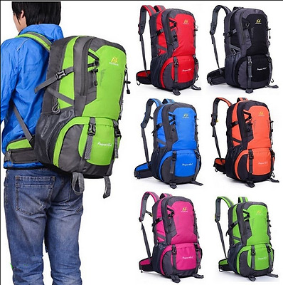 40L Waterproof Camping Hiking Backpack Outdoor Travel Luggage Rucksack Bag