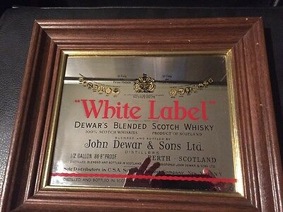 Dewar's White Label Framed Mirror