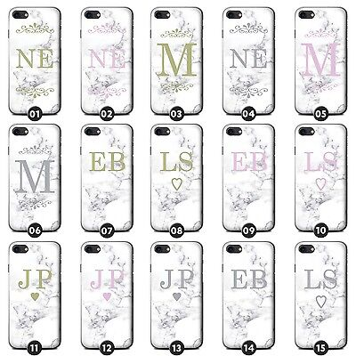 Personalised White Marble Fashion Phone Case/Cover for LG G Smartphone Initial