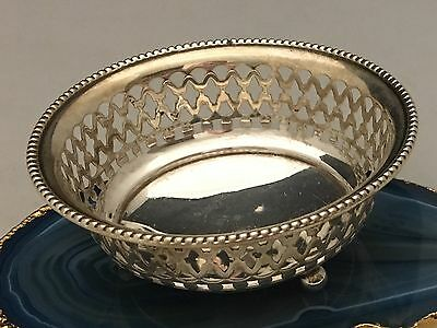 BEAUTIFUL American Sterling Silver Pierced Candy Dish or Jewelry Tray USA -L595