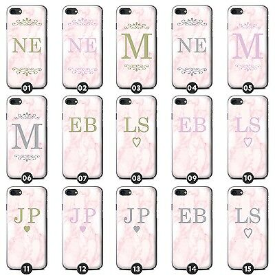 Personalised Pink Marble Fashion Phone Case/Cover for LG G Smartphone Initial