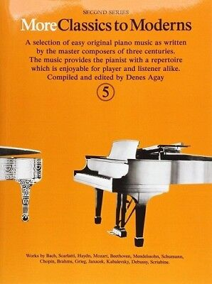 Partition pour piano - Denes Agay - More Classics to Moderns - Volume 5