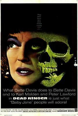 Dead Ringer Movie POSTER 27 x 40, Bette Davis, Karl Malden, B, USA, NEW