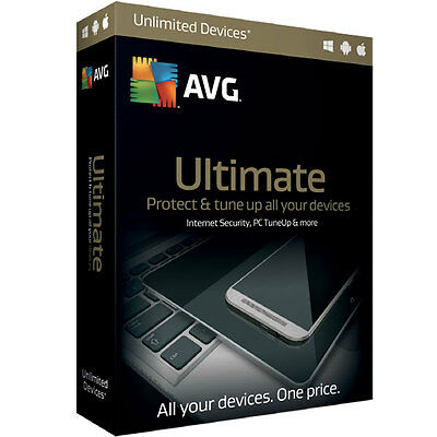 AVG Ultimate - Unlimited devices - 1 year - best antivirus security & pc tuneup