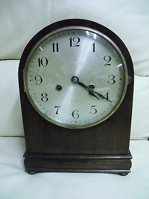 Antique Early 1900 German Mantel Clock By Hac Working With A Key