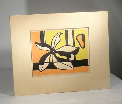 Antique Vintage Fernand Leger Abstract Mid Century Modern Print Lithograph