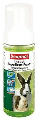 Beaphar Insect Repellent Foam Small Animals 150Ml Repels Fleas Ticks Flies Mites