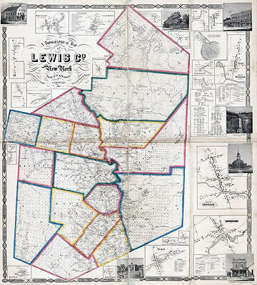 1857 Map of Lewis County New York