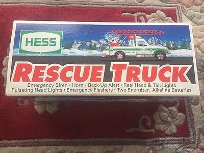 Vintage Hess 1994 Rescue Truck Sounds And Lights NIB