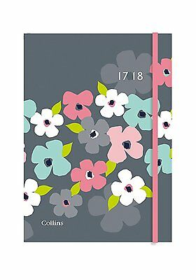 Collins A6 Blossom 2017-18 Day to a Page Mid Year Academic Student Diary CF61M01