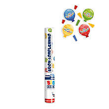 Tubo Sparacoriandoli Balloon Palloncini Colorati Compleanno Cm.30 Feste E Party