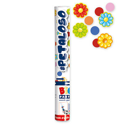 Tubo Sparacoriandoli Petaloso Fiori Colorati Cm.30  Feste E Party