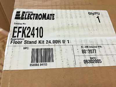 Rittal/electromate Efk2410 Afk2410 Fk2410 24 H X 10 W Floor Stand Kit Gray *new*