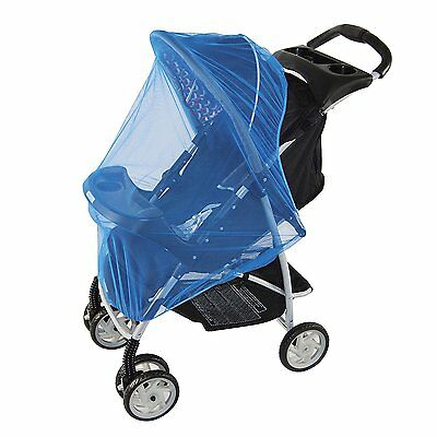 Blue Mosquito Net for baby Strollers, Carriers, Car Seats, Cradles, PacknPlays,