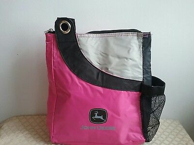 John Deere Women Lunch Bag Reusable Insulated Pink