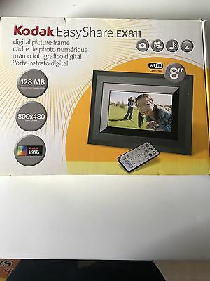 New Kodak Easyshare Ex811 8 Wifi Digital Picture Frame With Remote