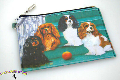 Cavalier King Charles Dog Bag Zippered Pouch Travel Makeup Coin Purse