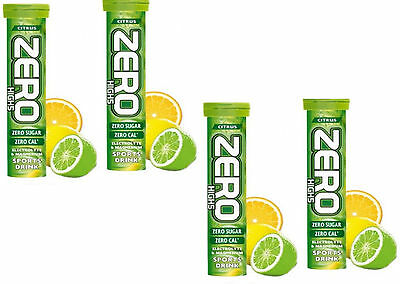 40 x HIGH5 ZERO CITRUS Hydration TABLETS Drinks 4 tubes of 10 Tabs High 5