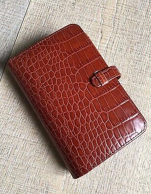 Coach Appt Diary Personal Agenda Organizer Brown Croc Leather New Vintage NOS