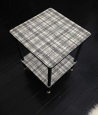 Vintage Retro Mid Century 50's/60's Atomic 2 Tier Side Table Occasional Table