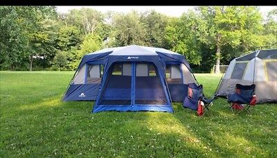 Ozark Trail 12 Person 2 Room Instant Cabin Tent with Screen Room & OZARK TRAIL 12 Person 2 Room Instant Cabin Tent with Screen Room ...