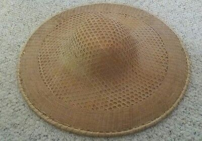Vintage Asian Vietnamese Rice Paddy Bamboo Farmer's Hat..!