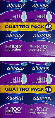 Always Ultra Long Sanitary Towels100%Leakage Protection 48 or 96 Sanitary Napkin