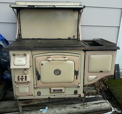 Antique Great Majestic Wood Burning stove Kitchen Cook Style gr8 4 off the grid