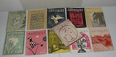 1940's and 1950s  Vintage The Magazine Antiques Lot Of 11 issues