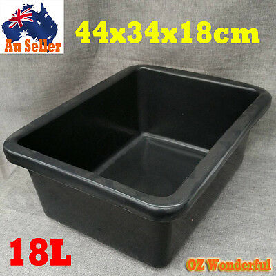 18L Storage Tubs Plastic Crates Packing Container Basin Bins Crate Stack Nest It