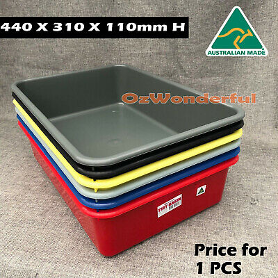 Tidy Basin Storage Tubs Plastic Crates Packing Container Bins Made In Australia