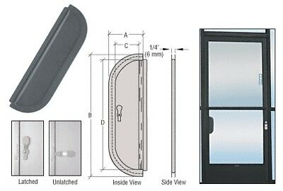 """Bronze Anodized 2-5/8"""" x 12-1/8"""" Deluxe Mail Slot w/ Glass Channel Bar and Latch"""