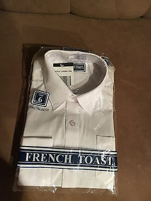Boys Youth French Toast Size 6 Long Sleeve Oxford New With Tags