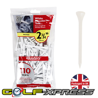 """Masters Golf - Wooden Golf Tees 2 3/4"""" - Qty: 110"""