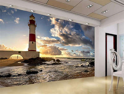 Scenery Brazil Lighthouse Full Wall Mural Photo Wallpaper Print Home 3D Decal