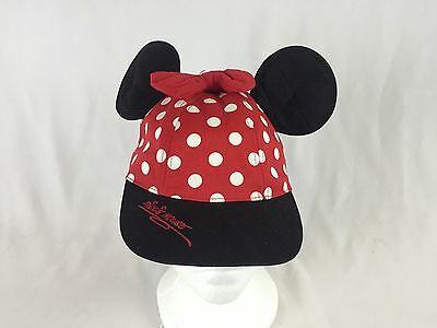 Youth Authentic Disney Parks Minnie Mouse Ballcap Hat W/ Ears