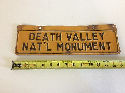 Original DEATH VALLEY NAT'L MONUMENT Sign, Inyo Death Valley CA