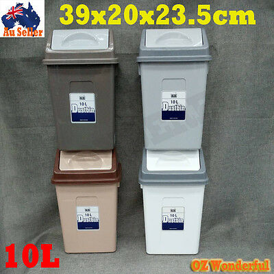 10L Small Bins Storage Bin Rubbish Trash Lid Dustbin Can Dust Bin Wastebasket