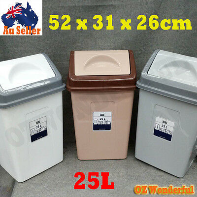 25L Garbage Bins Storage Bin Rubbish Trash Lid Dustbin Can Dust Bin Wastebasket