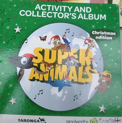 Christmas Woolworths Activity And Collectors Super Animals Taronga  Album Book