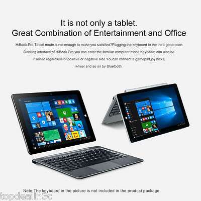 4/64GB 10,1'' CHUWI HiBook Pro Windows10 & Android5.1 WiFi+3G Tablet PC Dual Cám