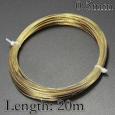 20M 0.5Mm Steel Universal Windscreen Glass Cutting Out Removal Wire Gold Braided
