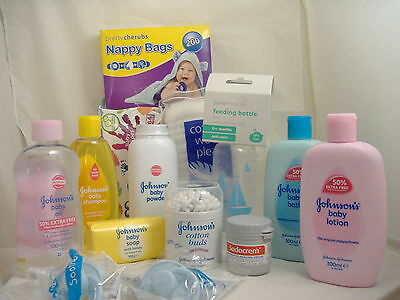 Large Baby New Born Starter Pack Shampoo,Baby Powder,Cotton Buds, Baby Soap,Etc.