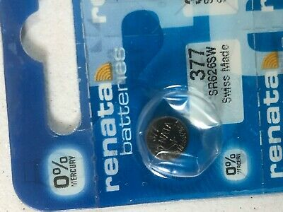 Genuine Renata 377 SR626SW Swiss Made Silver Oxide Watch Battery