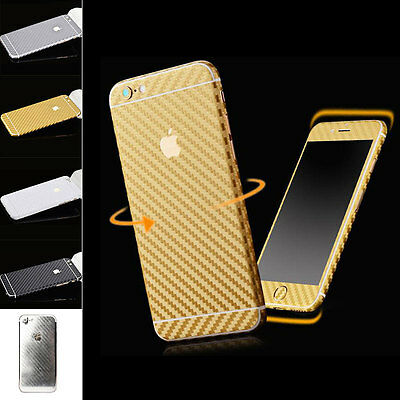 3D Carbon Fiber Wrap Decal Sticker Cover Skin For iPhone6 iPhone6 Plus
